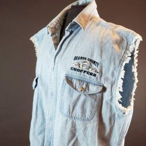 Orange County Choppers Men's Denim Shirt size xxl